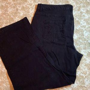 JMS Women's Black Denim Straight Leg Pants